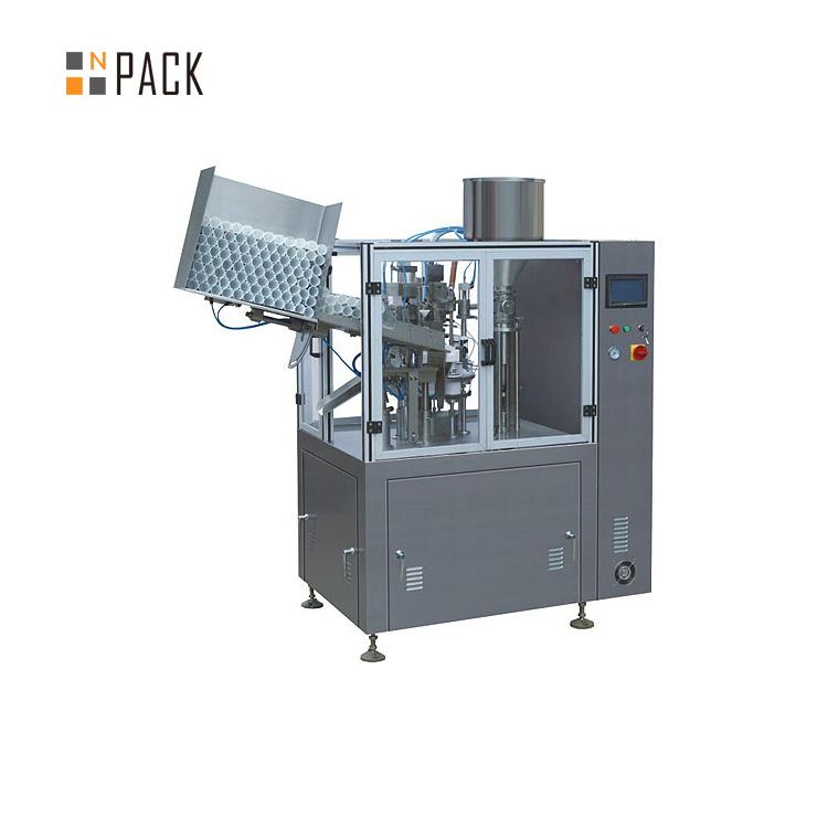 High capacity tube filling machine for cosmetic plastic cream