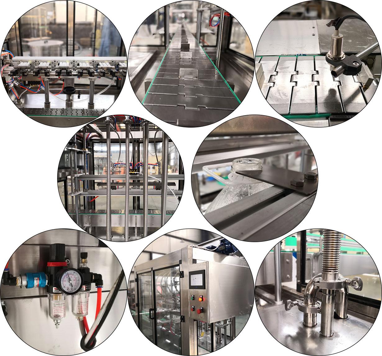 Best price 5-100ml pneumatic bottled engine oil filling machine