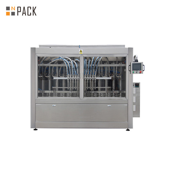 Automatic lubricant engine oil filling line