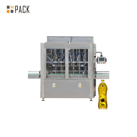 Small bottle cooking oil filling and capping labeling machine