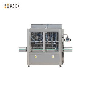 Automatic linear straight piston filling machine for essential oil