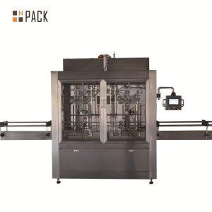 Two heads pneumatic volumetric piston liquid filling machine