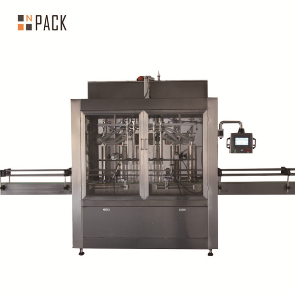 Two heads pneumatic volumetric piston liquid filling machine