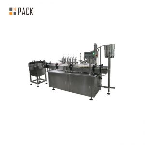 Customized glass dropper e liquid filling capping labeling machine for e cigarette liquid