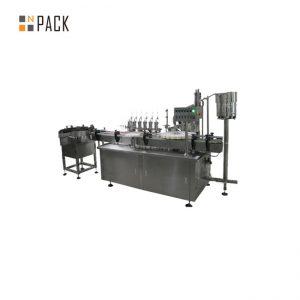 Customized glass dropper e liquid filling capping labeling machine for e cigarette liquid