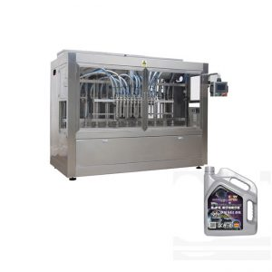 Automatic motor oil filling machine for plastic bottle