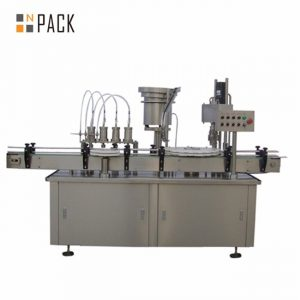 Automatic 10ml 15ml 30ml e-liquid eye drop dropper bottle filling capping machine