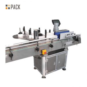 Automatic carton top side labeling machine with code printing