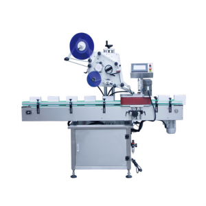 Automatic horizontal ball pen and ampoule bottle sticker labeling machine